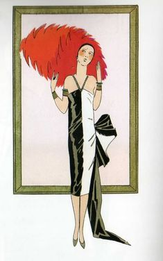 Jazz, Gin and the Cat's Meow - Black, Red and White - an Art Deco Palette