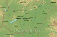 Physical map of Hungary. Illustrating the geographical features of Hungary. Information on topography, water bodies, elevation and other related features of Hungary How Beautiful, Hungary, Budapest, Physics, Map, Life, Location Map, Maps, Physique