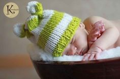 hat looming patterns | striped baby bear hat | knitting, loom knitting, crochet, and patterns