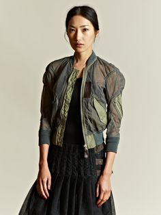 Junya Watanabe Sheer Tulle Bomber Jacket. Seriously! Love!