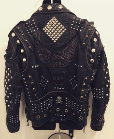 Warrior jackets from ChadCherryClothing. Distressed, studded, punk rock, heavy metal, rock-n-roll jackets by Chad Cherry.