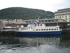 Epos, the floating library ship, at dock in Bergen, Norway. It serves three counties, loans 20,000 books out to patrons and was in service 126 days per year in 2005.