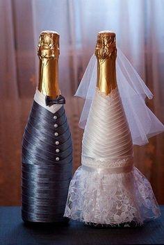 Výsledek obrázku pro свадебная бутылка декоративная