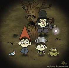 """A few days ago I watched this little cartoon named """"Over The Garden Wall"""". Over The Garden Wall - Don't Starve Minecraft Garden, Over The Garden Wall, Walled Garden, Wall Lantern, Star Vs The Forces Of Evil, Force Of Evil, Game Art, Lanterns, Character Design"""