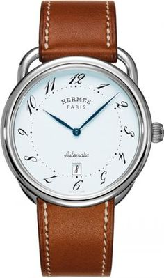 Hermes watch with brown band