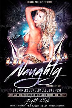 Naughty Flyer Party Template - http://www.ffflyer.com/naughty-flyer-party-template/ Naughty Flyer Party Template - a colorful flyer. perfect for your club event.    #Bar, #Club, #Dance, #Dj, #Edm, #Electro, #Girls, #House, #Ladies, #Lounge, #Love, #Nightclub, #Party, #Sexy