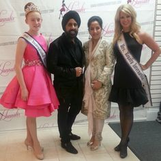 Wearing our Mac Duggal Dresses pictured here with# Mac Duggal he creates such beautiful dresses!!