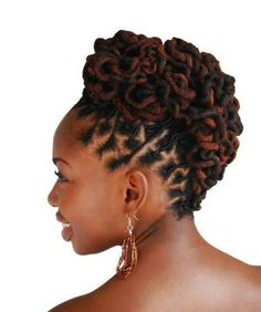 Dread Hairstyles Beautiful Intricate Loc'd Bun Igpstyles3 #naturalhairmag  Loc