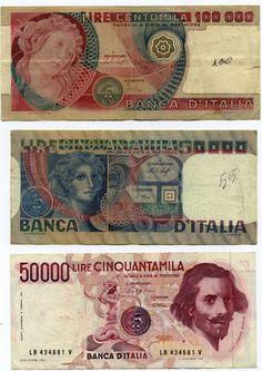 Italy * 200.000 lire three banknotes * vg/fine 1977/84