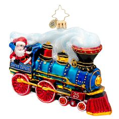 Radko Railroad Train Ornament Our Grandsons and a train under the tree...Christmas fun!
