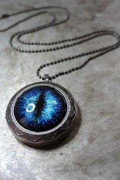 2e7a2e2b0f0a Dragon Eye Locket Game of Thrones Jewelry Hand Painted Glass Dragon Locket  GOT