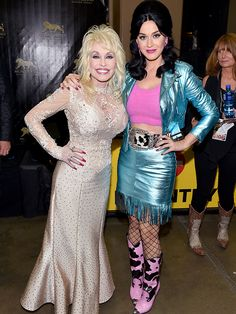 Katy Perry Out-Dollys Dolly Parton at ACM Awards: All the Details on Her Custom, Metallic Cowgirl Creation! Katy Perry Interview, Halsey Singer, Dolly Parton Pictures, Country Music Artists, Cowgirl Outfits, People Magazine, Hello Dolly, Celebs, Celebrities