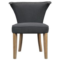 Uttermost Dasen Dark Gray Accent Chair