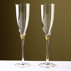 Personalized Vera Wang With Love Gold Toasting Flutes Set
