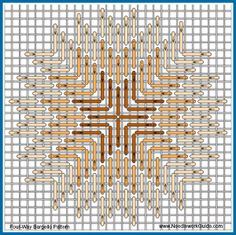 Four Way Bargello Pattern                                                                                                                                                                                 More