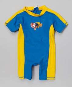 Another great find on #zulily! Blue Clownfish One-Piece Snap Rashguard - Infant & Toddler by Snappy Suits #zulilyfinds