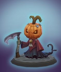 Gimaldinov pumpkin dude, Denny Zunon on ArtStation at https://www.artstation.com/artwork/gimaldinov-pumpkin-dude