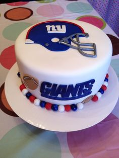 Football Cake Representing Nevardos Love Of The Giants Made