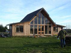 straw bale cabin.