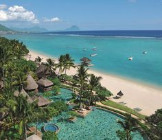Discover La Pirogue, A Sun Resort, Mauritius. A boho-chic hotel on the west coast with unique thatch-roofed bungalows. Mauritius Hotels, Mauritius Island, Maldives, Holiday Places, Holiday Destinations, Amazing Destinations, Bungalows, Costa, Places