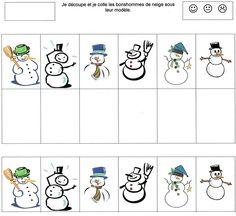 Janna / collage hivers French Immersion, Pre School, Preschool Activities, Kindergarten, Merry, Comics, Blog, Recherche Google, Collages