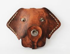 Piesek KLUCZOZJADEK - brelok skórzany na klucze (proj. Javore), do kupienia w DecoBazaar.com