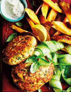 Need some dinner inspiration? Try our salmon burgers with sweet potato wedges - the lighter, healthier take on a burger that's still just as delicious! It's super easy and quick to make too.