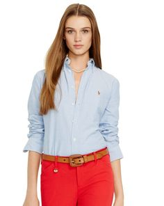 Custom-Fit Oxford Shirt - Polo Ralph Lauren Shirts   Blouses - Washed  cotton oxford bde6db31d5131