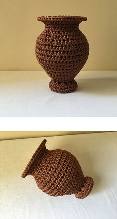 Crochet pattern for a vase, crochet gift, crochet vase, crochet item Crochet Vase, Crochet Gifts, Crochet Flowers, Crochet Fish Patterns, Crochet Designs, Instruções Origami, Crochet Home Decor, Types Of Craft, Tapestry Crochet