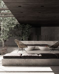 Outdoor Spaces, Outdoor Living, Outdoor Decor, Exterior Design, Interior And Exterior, Hotel Room Design, Industrial Interiors, Lounge Areas, Interior Architecture