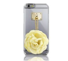 DREAMPLUS FLOWER CHARMING CLEAR PHONE CASE FOR GALAXY S6