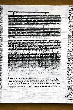 """Márton Kabai, Ficciones Typografika 170 (24""""x36""""). Installed on December 2, 2013. More on Ficciones Typografika. http://ficciones-typografika.tumblr.com/"""