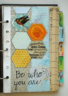 Be who you are. Art journal inspiration. Collage-3 | Flickr - Photo Sharing!