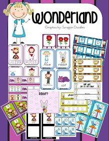 musings of me: Wonderland Pre K/Kindergarten Pack!
