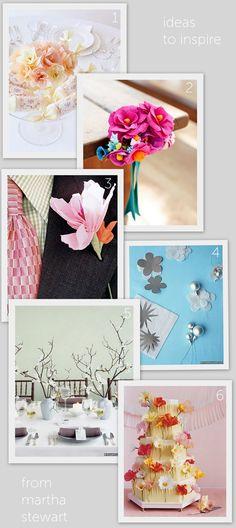 martha stewart paper flower tutorials