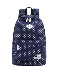 07fed5144b0c Classic Backpack Mainstream Canvas Big Shoulders Bags Satchels White Dots -  Blue - CN12LAPOONN  Bags  handbags  gifts  Style  Shoulder Bags