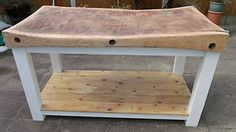 large vintage butchers block on new painted stand | eBay