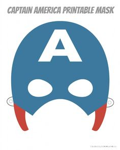 If you are looking for a last minute costume, or if you just feel like playing a little dress up these printable hero masks are perfect. Captain America Maske, Captain America Party, Captain America Birthday, Printable Heroes, Printable Masks, Templates Printable Free, Printables, Certificate Templates, Superhero Birthday Party