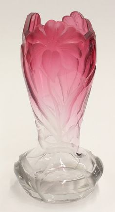 Moser art glass vase : Lot 2100
