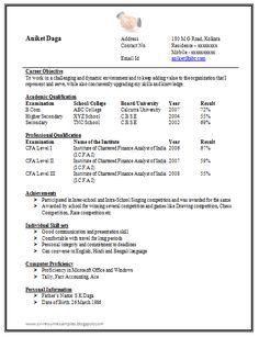MBA Marketing Fresher Resume Sample Doc (1) | Career | Pinterest ...