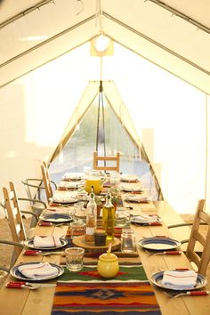 Camp chefs serve up delicious, fresh meals in our Signature Camping dining tent.