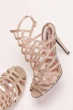 Glitter High Heel Cage Sandal