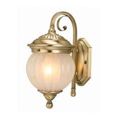 Design House Odessa Wall-Mount 1-Light Outdoor Antique Brass Fixture-509703 at The Home Depot