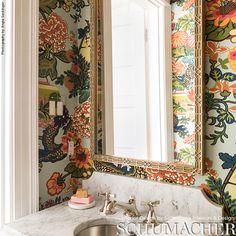 Pink Bathroom: Designs & Decoration Photos - Home Fashion Trend Guest Bathrooms, Bathroom Spa, Bathroom Interior, Small Bathroom, Bathroom Ideas, Mirror Bathroom, Decor Interior Design, Interior Decorating, Tiny Powder Rooms