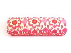 Long Bolster Pillows, Pink Ikat Pillows, Pink Bolster Cushion, Pink and Orange Pillows by City Girls Decor