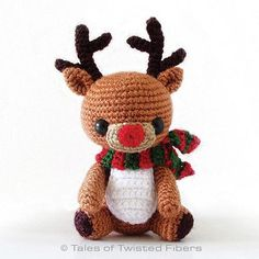 Download this free pattern at Amigurumipatterns.net Rudy the reindeer