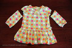 Altering Baby Clothes: Long Sleeves to Short {Plus Ruffles}   Make It and Love It