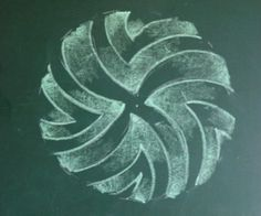 Waldorf ~ 3rd grade ~ Form Drawing ~ chalkboard drawing