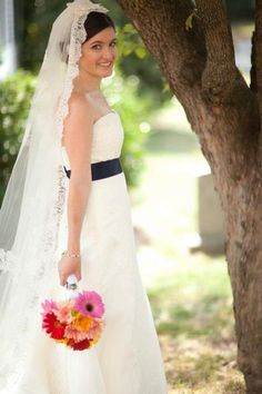 """Colleen wearing wedding gown """"Sky"""" by WToo Brides"""