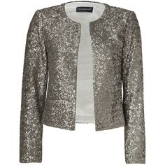 ZADIG & VOLTAIRE Gold Allover Sequined Grissy Open Cardigan ($507) ❤ liked on Polyvore